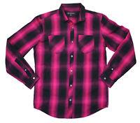 INC International Concepts Hyper Casual Plaid Long Sleeve Button Down Shirt NWT