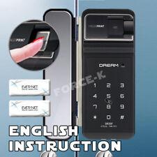 Fingerprint Glass Door Lock DR35FGC-SN Digital Doorlock Passcode RFID Clip Type