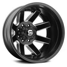 Fuel Maverick Dualie Rear 17x6.5 8x6.5 ET-140 Black Milled Mat Rims (Set of 4)