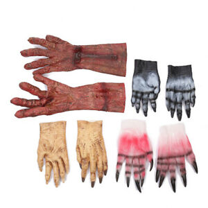 US!Adult Halloween Death Zombies Latex Hands Gloves Party Costume Decorations