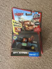 Disney Pixar Cars Lights & Sound Talking Spy Mater 3 2 1 Diecast 1:55 Walmart ex