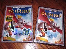 Dumbo Disney (DVD/Blu-ray) 2011,2-Disc Set, 70th Anniversary Edition ) Slipcover