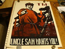 1968 International Poster Corp. UNCLE SAM WANTS YOU commie poster