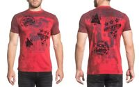 Affliction Threshold Short-Sleeve Graphic Tee Men's T-Shirt A16363, Cranberry LV