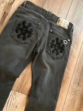Givenchy Men's Slim Fit Stretch Black/ Grey Washed Denim Jeans Size US 32