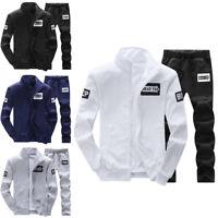 Men Tracksuit Set Sweatshirt Sport Suit Casual Sportswear Basic Jacket+Pants 4XL