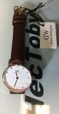 DANIEL WELLINGTON WOMEN WATCH LADY 0900DW ROSE GOLD WHITE DIAL STRAP LADIES 26MM