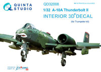 Quinta QD32008 1/32 A-10A 3D-Printed & coloured Interior (for Trumpeter  kit)