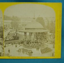 Stereoview Photo International Exhibition 1872 French Band Horticultural Gardens