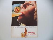 advertising Pubblicità 1972 BIRRA BEER WUHRER