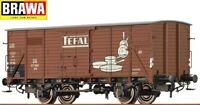 "Brawa H0 49755 Gedeckter Güterwagen G10 ""Tefal"" der DB - NEU + OVP"