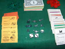 Monopoly Board Game Pieces Parts  Money Tokens Hotels Houses Cards Rules Dice