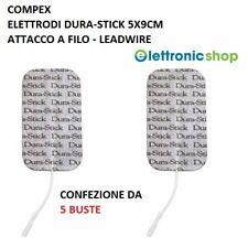 COMPEX ELETTRODI DURA-STICK 5x9CM ATTACCO A SPINOTTO - 5 BUSTE - COMPEX ITALIA