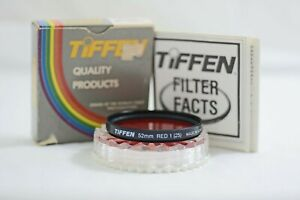 TIFFEN  RED 1 NO.25 SPECIAL EFFECT CAMERA LENS FILTER (NEW-OLD STOCK)