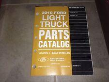 2010 Ford E-Series Van E150 E250 E350 E450 Parts Catalog Manual Cargo Wagon