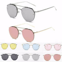 Women's Fashion Cat Eye Sunglasses Metal Frame Oversized Eyewear Eye Glasses