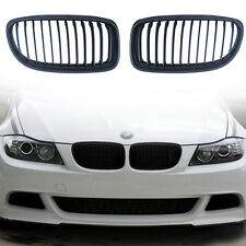 2x Black Kidney Grille Grill For BMW E90 LCI 3 Series Sedan 325i 328i 4D 09 - 11