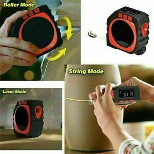 3 in 1 Handheld Digital Measure String Sonic Roller Mode Laser Range Tape Tool