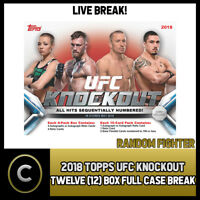 2018 TOPPS UFC KNOCKOUT 12 BOX (FULL CASE) BREAK #M001 - RANDOM FIGHTERS