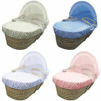 New Moses Basket Bedding Soft touch Cuddlesoft Dimple moses Hooded Dressing Set