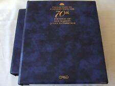 STANLEY GIBBONS LUXURY RING STAMP ALBUM Qn ELIZABETH 70th BIRTHDAY & SLIPCASE