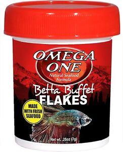 Omega One Betta Buffet Flakes .28oz 7 grams