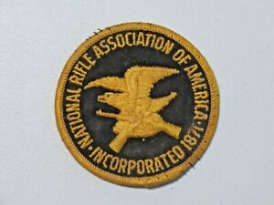 Vintage National Rifle Association of America Incorporated 1871 Patch Round 7971