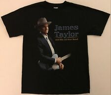 JAMES TAYLOR and His All Star Band Tour 2014 Size Medium Black T-Shirt