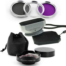 37mm 0.3x Fisheye Lens + Hood + Filter Kit for Sony Handycam HDR SR11,SR12,SR5