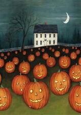 New listing New Lg Toland Halloween Flag Pumpkin Hollow House Spooky Jack O' Lanterns 28X40