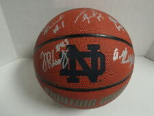 NOTRE DAME FIGHTING IRISH TEAM SIGNED BASKETBALL MIKE BREY JERIAN GRANT