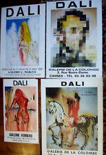 4 Affiches par Salvador DALI -galerie MARCUS -FERRERO-DE LA COLOMBE