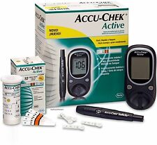 Accu Chek Active Diabetes Monitor with 100 Test Strips Glucometer Fast shipping