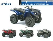 ATV Data Sheet- Yamaha - Kodiak 400 Automatic 4x4 - 2005  (V78)