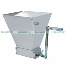Grain Crusher Grain Processor Stainless Rollers Home Brew Malt Mill Cereal