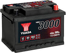 YUASA PREMIUM 12v Car Battery 3 Year Warranty - EB602 TYPE 075 YBX3075