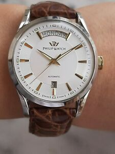 PHILIP WATCH SUNRAY AUTOMATIC DAY DATE MENS SWISS MADE REF.8221680215