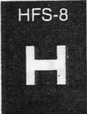 Plastruct HFS-8 Fine Line H Plastic Section 1/4 (6.4mm)