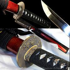 Wakizashi Knife Samurai Sword KatanaHand Forged 1095 High Carbon Steel #2496