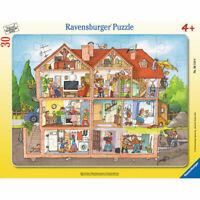 RAVENSBURGER Kinderpuzzle Rahmenpuzzle Blick ins Haus 30 Teile ab 4 Jahren