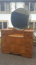 A Lovely Vintage Circa 1950's Dressing Chest/Table with Drawers & Mirror to Top