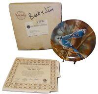 Plate Blue Jay Birds of Your Garden Collector Knowles #15602E Box Bird EUC NT