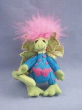 "DEB CANHAM  ""SCRAMBLES"" EASTER DRAGON  MINIATURE LIGHT GREEN ULTRASUEDE- 4"""