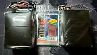 Ultra Pro BLACK DECK BOX + 100 Card Sleeves - Fits Magic/Pokemon/Yu-Gi-Oh Cards!