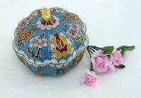 Ziehrdose Vorratsdose mit Deckel und bunten Blumenverziehrungen Ø ca. 9 cm
