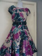 LADIES  MONSOON    STUNNING      SUMMER  POSY BLOOM   DRESS  SIZE  14