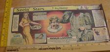 Veronica Lake Charles Laughton Seein' Stars Feg Murray 40s Sunday color panel 4f