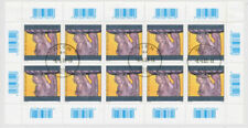 Echte gestempelte Briefmarken aus Österreich mit Kunst-Motiv