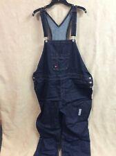 Dickies Womens Denim Bib Overall 2XL Relaxed Fit Straight leg Blue Carpenter new