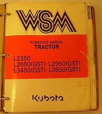 Kubota L23502650295034503650 Loader Workshop Manual 97897 11220